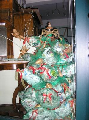 albero natale riciclato 1