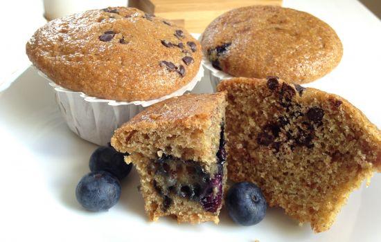 Muffin integrali senza zucchero bianco uova e latticini