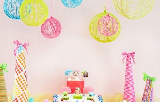 Riciclo creativo, Decorazioni per una festa di compleanno fai da te