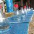 Luce gratis usando una bottiglia di plastica, acqua e candeggina