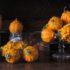 Zucche ornamentali come una natura morta