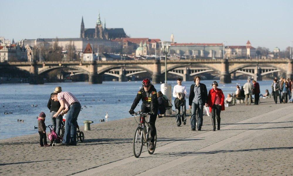 Visitare Praga in bici