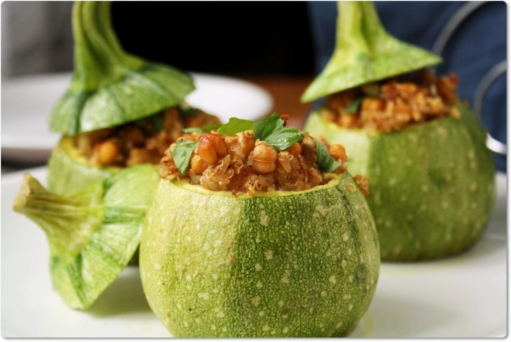 Ricette di cucina vegetariana, zucchine tonde ripiene