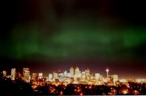 aurora borealis Calgary