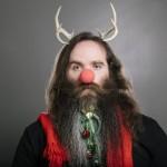 Hipster uomo dedicato al Natale
