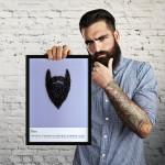 Hipster uomo: studio barba hipster