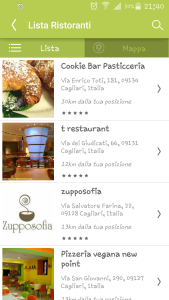 VegLife: l'area ristoranti