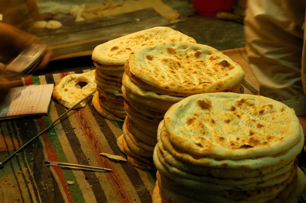 pane con impasto senza lievito