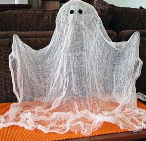 ragnatela di Halloween di garza da lapappadolce.net